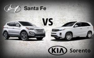 Kia Sorento vs Hyundai Santa fe