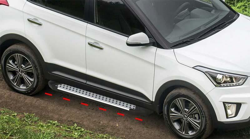 Установка боковых порогов на Hyundai Creta (ix25)