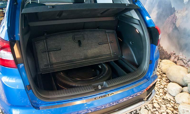 Габариты и объем багажника Хендай Грета (Creta) 2018-2019