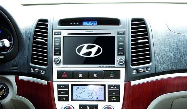 Штатная магнитола Hyundai Santa Fe - основные функции